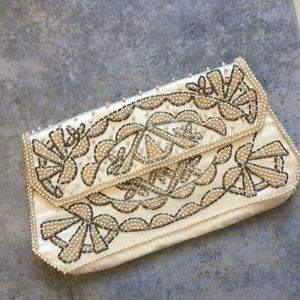 Handbags - True Vintage Beaded Clutch Purse